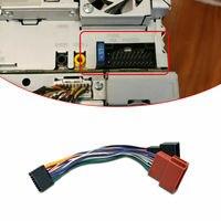 ISO Kablo Demeti Konnektörü 16Pin Stereo Radyo fişi Kurşun Tel Adaptörü Kenwood Araba Için ses arabirimi kablosu