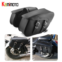 KEMiMOTO Motorcycle Saddlebag Tool Side Bags Luggage Bags PU Leather For Harley Sportster XL 883 1200 XL883 XL1200 For Cruiser
