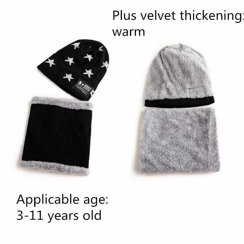 cc839d0782155 ... 2018 Hot parent child 2pcs super warm Winter balaclava wool Beanies  Knitted Hat and scarf for