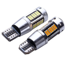2019 2pcs T10 LED Bulbs White 168 501 W5W Lamp Wedge 4014 30SMD Interior Lights 12V 6000K Red Amber yellow Ice Blue