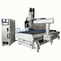 Chinese Factory Swing Head 180 Degree Auto Tool Change 4 Axis CNC Router 4*8 Feet High Feeding Height Wood CNC Machine 5 Axis