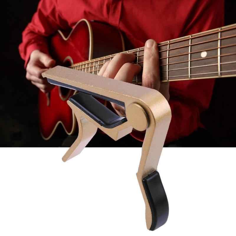الغيتار الاكسسوارات سبائك الألومنيوم الغيتار موالف المشبك المهنية مفتاح الزناد كابو الصوتية الكهربائية آلات موسيقية أجزاء