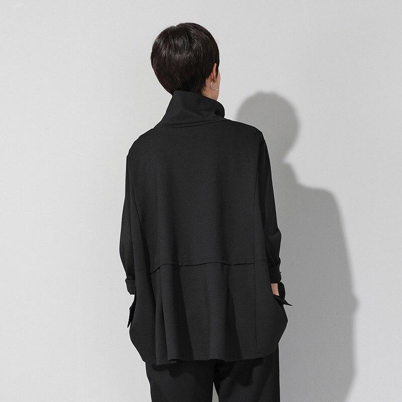 Image 2 - Max LuLu Spring Luxury European Fashion Vintage Ladies Black T  shirt Turtleneck Tops Cotton Casual Womens Long Sleeve Tee  ShirtsT-Shirts