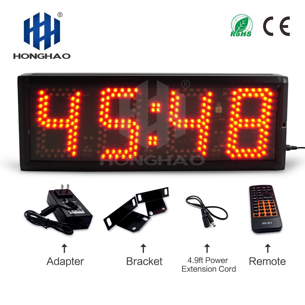 5 inch 4 digits red high brightness led panel Display Countdown Timer Honghao countdown clock
