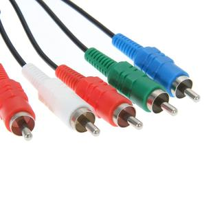 Image 4 - 1.8m 6FT HDTV AV Audio vidéo câble AV A/V composant câble cordon fil pour Sony PlayStation 2 3 PS2 PS3 mince adaptateur de jeu