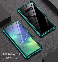 Для samsung S 10 S10 случае S10Plus металлический бампер алюминиевая рамка с Стекло задняя крышка для samsung Galaxy S10 плюс S10E