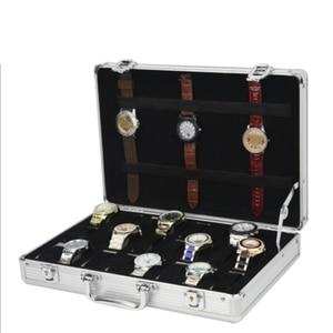 Image 5 - 24 ตารางอลูมิเนียมกระเป๋าเดินทางกรณีกล่องเก็บนาฬิกากล่องนาฬิกานาฬิกานาฬิกาปลุกนาฬิกากล่องนาฬิกา