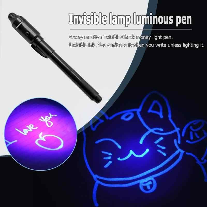 2 in 1 แสงที่มองไม่เห็นหมึกปากกา UV ตรวจสอบเงินของเล่นเด็กวาด Secret Magic ปากกาเด็กเรืองแสงในของเล่น