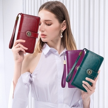 Rfid Anti-Magnetic Wallet Female Korean Version Ladies Wallet Leather Wallet Wallet Large Capacity Clutch Bag цены