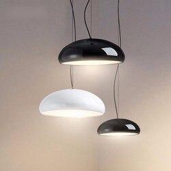 Moderno LED Lampade a sospensione Per Sala Da Pranzo Soggiorno Ristorante Bar A Casa Lampada A Sospensione Lampade Nero Bianco Paralume Copertura in Acrilico