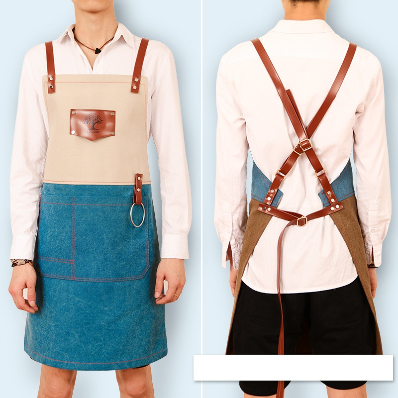 New Women Solid Cooking Kitchen Restaurant Bib Apron Dress with Pocket Gift XR