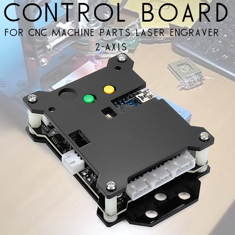 12V CNC Laser Engraving Machine Control Board Wood Router WOLIKE GRBL USB Port CNC2 Axis Stepper Motor Driver DIY Controller