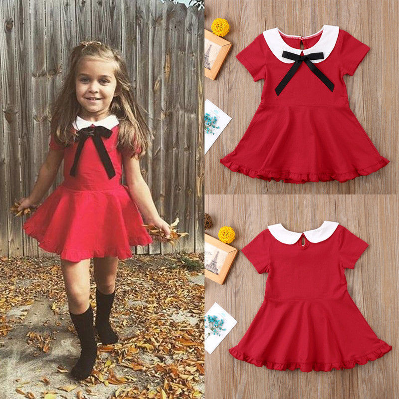 Pudcoco Girl Dress 6M-4Y Toddler Girls Princess Dress Kids Baby Party Wedding Birthday Pageant Dresses