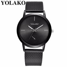 Best Selling Fashion Women Rose Gold Plastic Leather Quartz Watch Luxury YOLAKO Brand Ladies Watches Relogio Feminino Hot