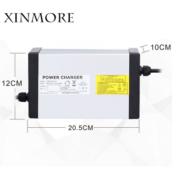 XINMORE 67.2V 10A 9A 8A Lithium Battery Charger For 60V E-bike Li-Ion Battery Pack AC-DC Power Supply for Electric Tool