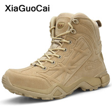 Купить с кэшбэком Tactical Army Military Ankle Boots Men Shoes Plus Size New Arrival Spring Autumn Male High Top Footwear Desert Boots Fashion