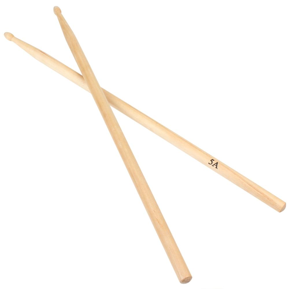 1 Pair Maple 5A Wooden Drum Sticks Oval Shaped 405mm Drumsticks Drum Parts & Accessories
