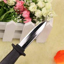 Truque faca punhal corrediça retrátil na lâmina diversão brincadeira halloween prop falso walkie talkie crianças anyoutdoor