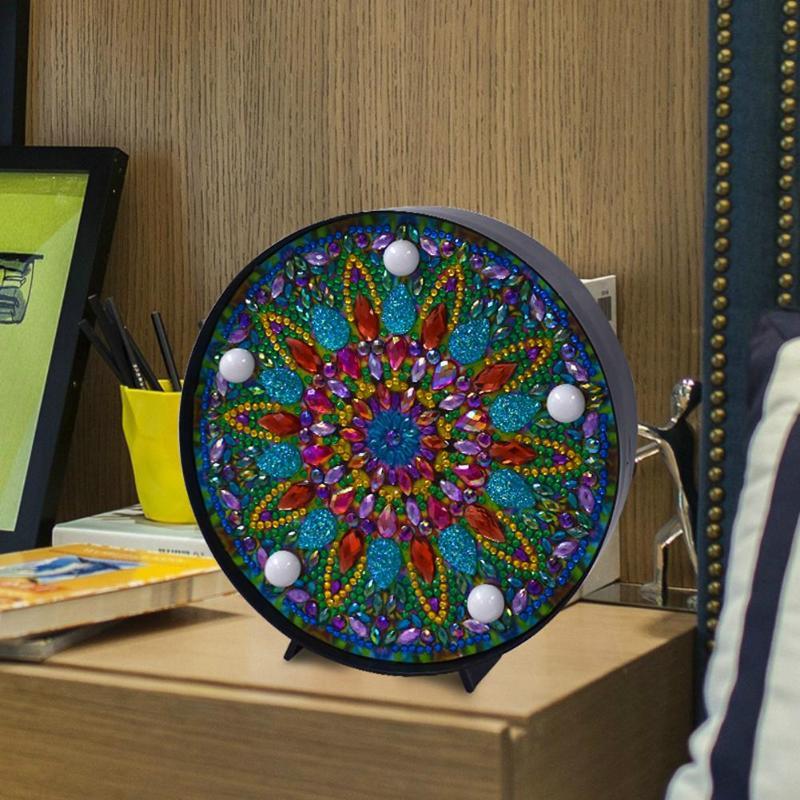 DIY Mandala LED Diamond Painting Light Box Cross Stitch Embroidery Lamp