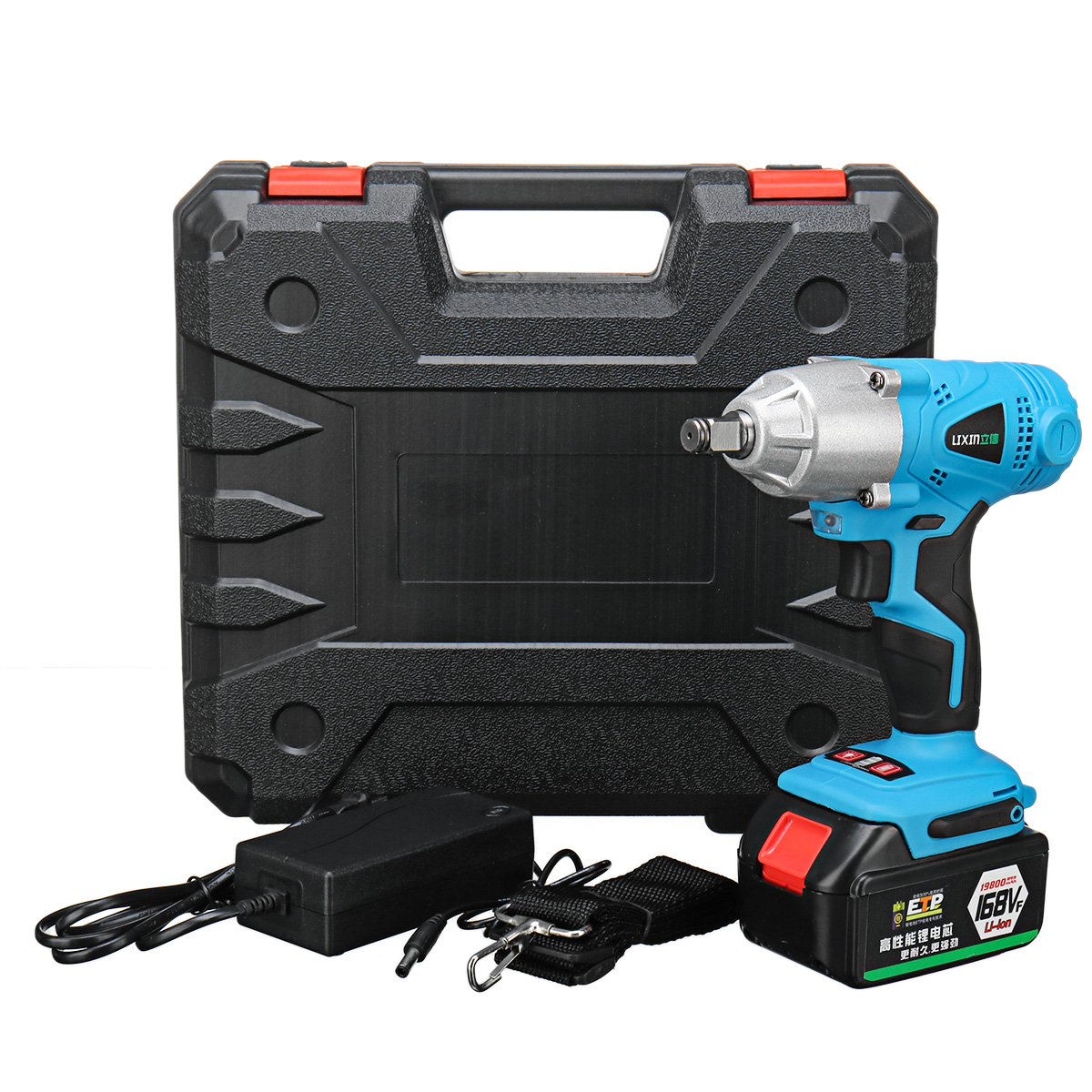 19800mAh Electric Wrench Impact Drill Socket LED Light 1/2 Chuck Wrench Li-on Battery Car Wrench Tire Power Tools19800mAh Electric Wrench Impact Drill Socket LED Light 1/2 Chuck Wrench Li-on Battery Car Wrench Tire Power Tools