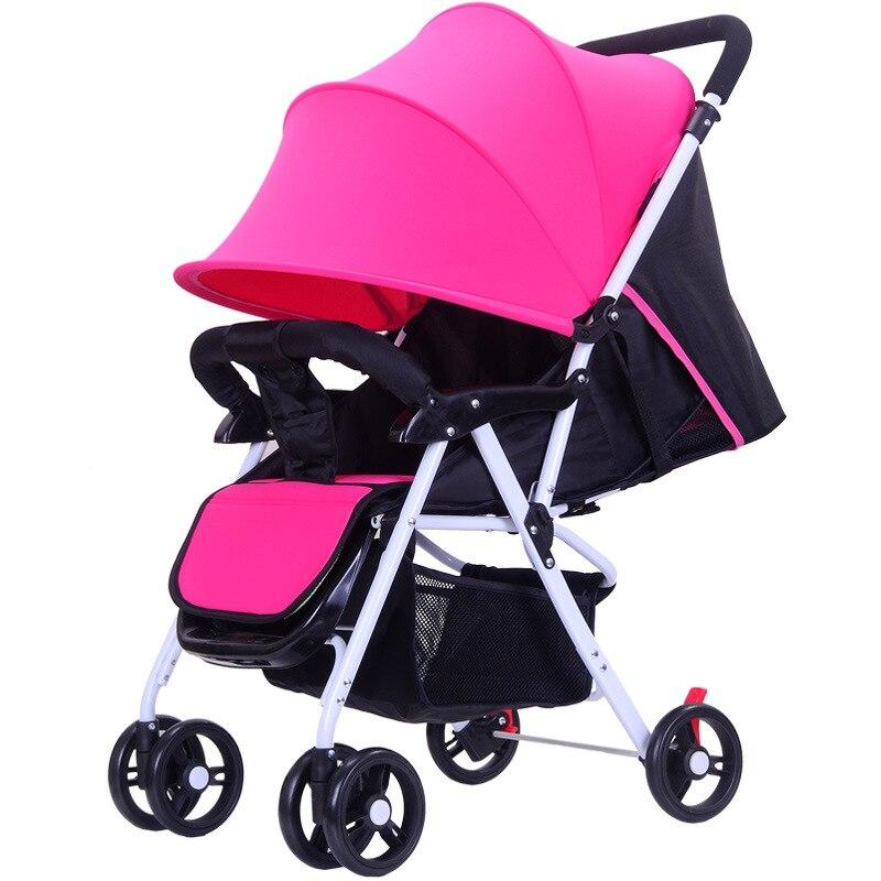 5.5 ultra-léger bébé poussette haut paysage à quatre roues chariot pliable Portable poussette voyage landau pour les nouveau-nés enfants - 3