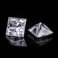 7*7 мм принцесса вырезать Whit Алмазный Муассанит камень 1,88 карат для обручального кольца
