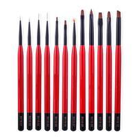 12pcs Nail Painting Drawing Pen Polish Phototherapy Brush Set Nail Art Tool