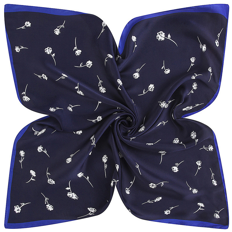 Rayon Scarf Square Women Scarf Dandelion Flower Small Square Silk Scarf 60*60cm 2019 Female Bandana Office Lady Gift