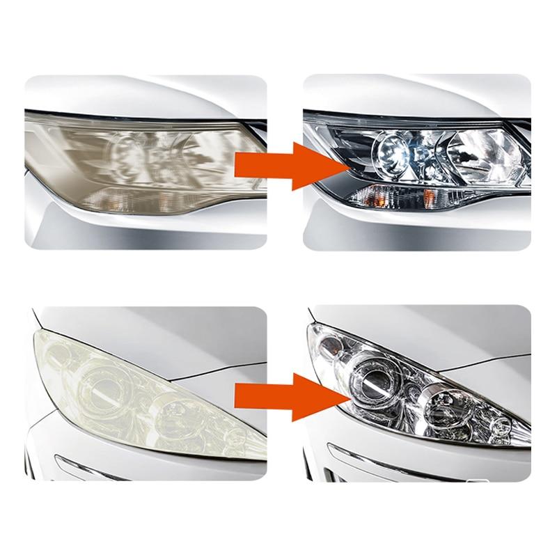 Image 5 - Visbella Headlight Restoration Kit DIY Headlamp Brightener for Car Auto Care Head Lamp Lense Repair Clean Light Polishing Paste-in Polishes from Automobiles & Motorcycles