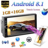 2 Din Car Radio Player 7 inch Android 8.1 1Gb+16Gb Touch Screen Car Stereo MP5 Player GPS Navi FM Radio WiFi BT