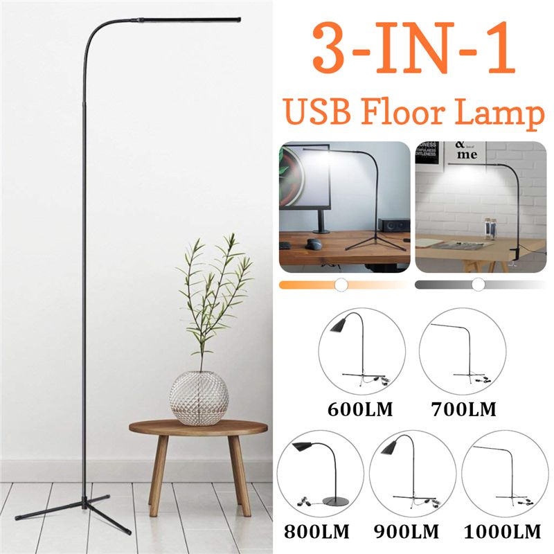 Indoor Adjustable Height Floor Lamps For LED Light Clamp Dimmable Reading Desktop Lamp Tripod Study Room EU/US PlugIndoor Adjustable Height Floor Lamps For LED Light Clamp Dimmable Reading Desktop Lamp Tripod Study Room EU/US Plug