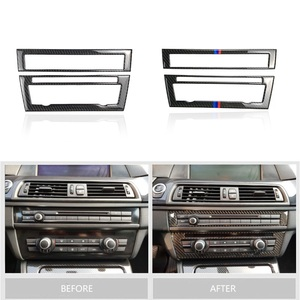 Image 2 - For BMW 5 Series F10 2011 2012 2013 2014 2015 2016 2017 Carbon Fiber Car Front Center Air Conditioning CD Control Panel Cover