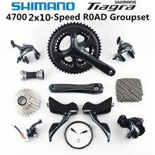 SHIMANO Tiagra 4700 Groupset 4700 bicicleta de carretera con desviadores, 2x10 velocidades 50 34 52 36T 170 172,5 MM 11 25 12 28 11 32T 4600 nuevo