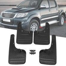 4x Anteriore e Posteriore Mud Flaps Splash Guards-Parafango per Toyota Hilux Vigo 2005-2014 Plastica Bullone Diretto installazione Parti Esterne