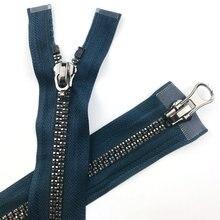 NO.8 смола сливы застежки-молнии для шитья яркий серебряными зубами двойной хвост 120 см пуховая куртка на молнии модные аксессуары AQ021