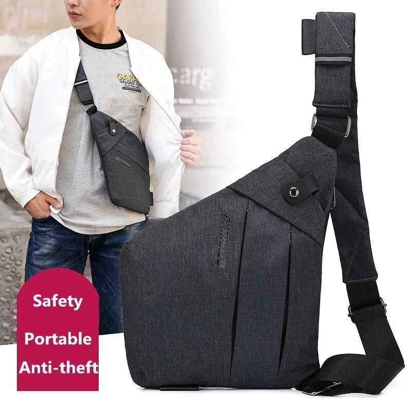 Men Travel Business Bag Burglarproof Shoulder Bag Multi-pocket Chest Crossbody Bags For Women Bolsa Feminina Sac A Main Modis