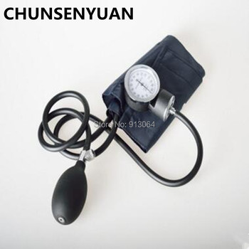 Ciśnienie krwi Aneroid Sphygmomanometer mankiet zestaw ramię ciśnienie krwi stetoskop z torbą na zamek błyskawiczny dla dorosłych opieki zdrowotnej tanie i dobre opinie C-235 Chun sen yuan