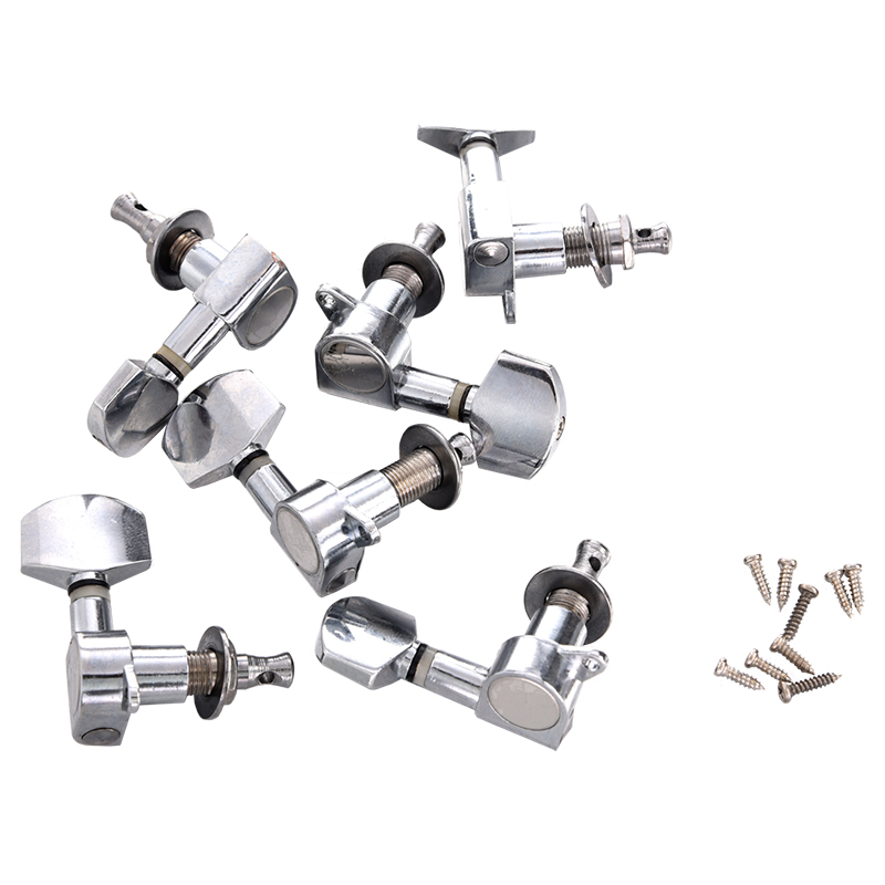 Networking Supply New 6 Pcs Chrome Guitar String Tuning Pegs Tuners Machine Heads