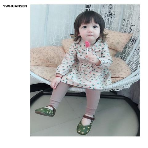 YWHUANSEN 0-6T Spring Autumn Striped Leggings Toddler Girl Cotton Infant Newborn Kids Strumphose Knitted Skinny Pants For Babies Karachi