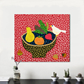 Hand Painted Canvas Art Wall Pictures For Living Room Kusama Yayoi Yellow Still life Fruit Bird Oil Painting Home Decor No Frame