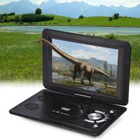 2018 NEWEST 13.9 inch 110 240V HD TV Portable DVD Player 800*480 Resolution 16:9 LCD Screen for EU Plug DVD Players