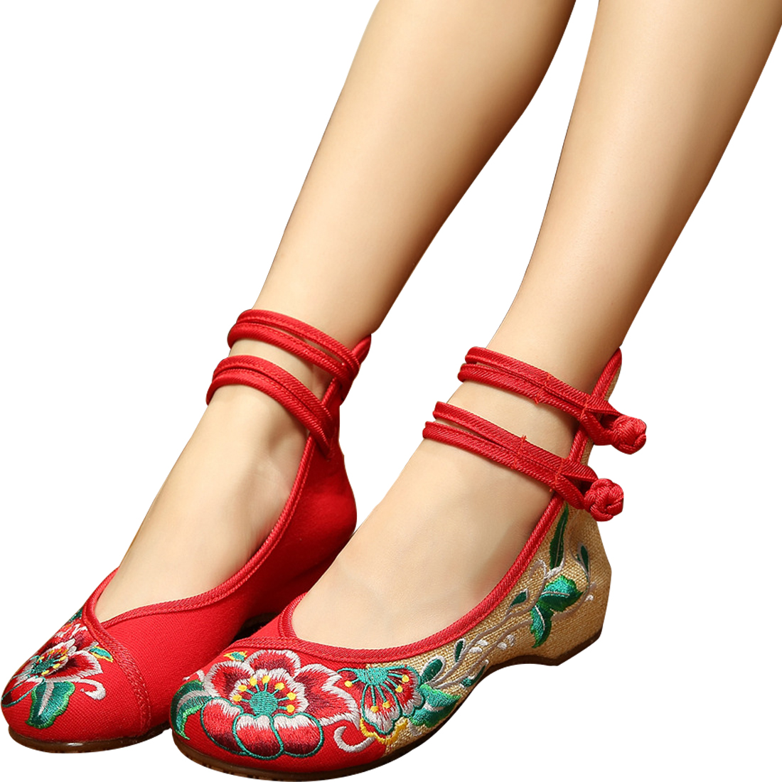 2019 New Chinese Embroidered Hibiscus Flowers Cloth Shoes Hot Canvas Women Casual Flat Loafer Cotton Fabric Red Embroider Shoes 2019 New Chinese Embroidered Hibiscus Flowers Cloth Shoes Hot Canvas Women Casual Flat Loafer Cotton Fabric Red Embroider Shoes
