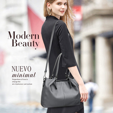 Elegant Ladies Handbags Large Capacity Pocket Casual Tote Womens Shoulder Bag High Quality PU Leather