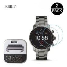 2 упаковки 2.5D прозрачное закаленное стекло для защиты экрана для мужчин Fossil Q Explorer HR Gen 4 5 Smartwatch Защитная пленка для экрана