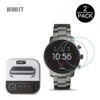2 Pack 0.3mm 2.5D Clear Gehard Glas Screen Protector Voor Fossiele Q Explorist HR Gen 4 Smartwatch Screen Guard beschermende Film