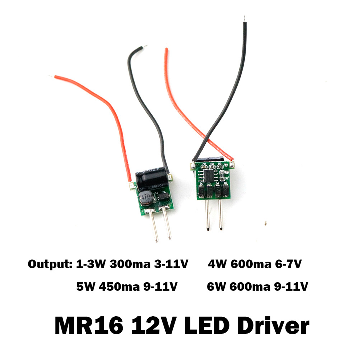 Image 4 - 5PCS LED Driver Power Supply Transformer Constant Current  MR16 12V Low Voltage 300mA 450mA 600mA 1W 3W 4W 5W 6W Fast Ship JQ-in Lighting Transformers from Lights & Lighting