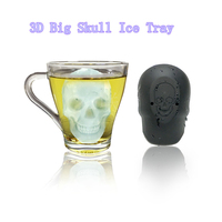 2019 New 5Pcs/Set Silicone Black Skull Ice Cube Mould Tray Makes Ice Popsicle Cube Mould Barware Bar Tools for Drop Shipping