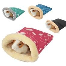 Cama de hámster de felpa cálida, cama suave de conejillo de indias, cama de rata, nido, pequeños animales, ratón, saco de dormir, Cavie House, entrega al azar