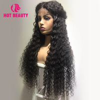Горячий салон красоты и Парикмахерская на заказ парик шнурка 4*13 фронтальные человеческие волосы парики для черных женщин малайзийские вол