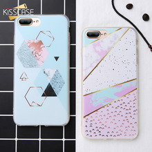 KISSCASE Geometry Marble Case For Samsung Galaxy Note 9 8 S9 S8 Plus Soft TPU Phone A3 A5 A7 J 2016 2017